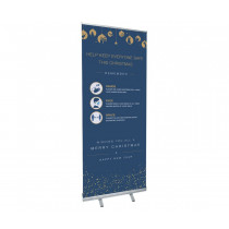 Christmas Roller Banner - COVID19 - Hands-Face-Space