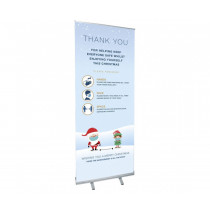 Christmas Thank you Roller Banner - 800 x 2000mm