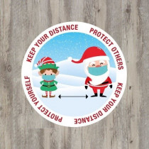 Christmas Keep Your Distance Floor Graphic