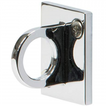 Chrome Rope Barrier Wall Bracket