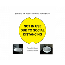 Circular Social Distancing Washroom Sink Cover