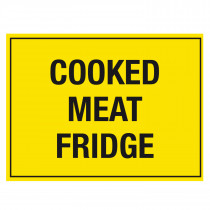 Cooked Meat Fridge Storage Sign