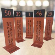 Personalised Slimline Tall Table Top Numbers