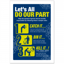 Coronavirus Prevention Catch it, kill it, bin it Poster