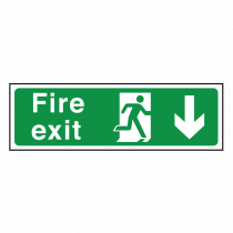 Fire Exit Sign Arrow Down