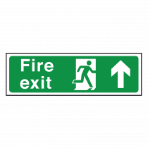 Fire Exit Sign Arrow Up