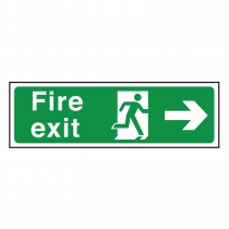 Arrow Right - British Standard Fire Exit Sign