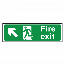 Fire Exit Sign Up Left