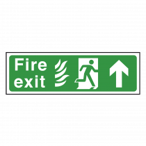NHS Fire Exit Sign Arrow Up