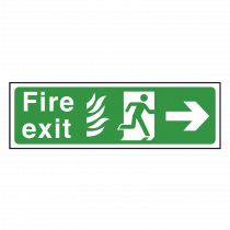 NHS Fire Exit Sign Right