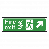 NHS Fire Exit Sign Up Right