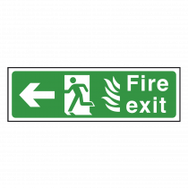 NHS Fire Exit Sign Left