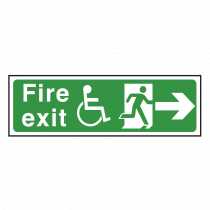 Wheelchair Fire Exit Sign Right