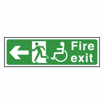 Wheelchair Fire Exit Sign Left