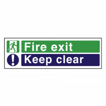 Fire Exit / Keep Clear - Fire Exit Sign