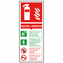 Water + Additive Fire Extinguisher Sign