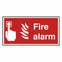 Fire Alarm With Symbol Notice