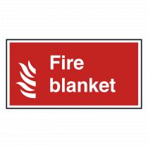 Fire Blanket With Symbol Notice