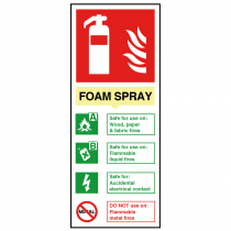 Foam Spray Electrical Fire Extinguisher Sign