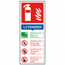 L2 Powder Fire Extinguisher Sign