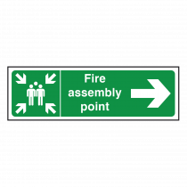 Fire Assembly Point Sign Right