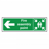 Fire Assembly Point Sign Left