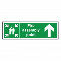 Fire Assembly Point Sign Arrow Up