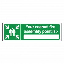 Your Nearest Fire Assembly Point Is Sign