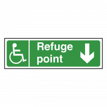 Refuge Point Sign Arrow Down