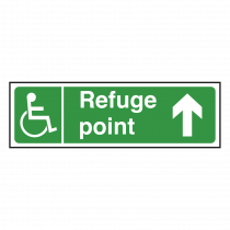 Refuge Point Sign Arrow Up