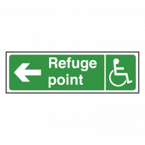 Refuge Point Sign Left