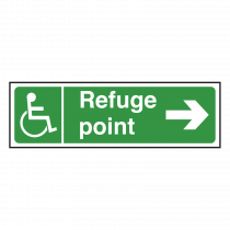 Refuge Point Sign Right