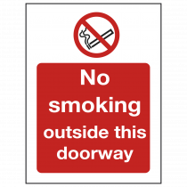 No Smoking Outside Doorway Sign