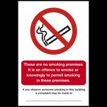 Scottish No Smoking In These Premises Sign