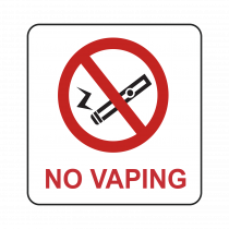 No Vaping Symbol Sign