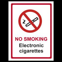 No Smoking Electronic Cigarettes Sign