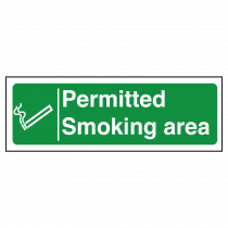 Permitted Smoking Area Sign