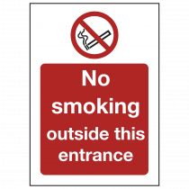 No Smoking Outside Entrance Sign
