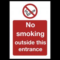 No Smoking Outside Entrance Sign