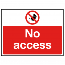 No Access with hand stop symbol sign