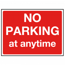 No Parking at Anytime Sign