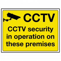 CCTV Security in Operation Sign