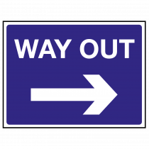 Way Out Arrow Right Sign