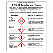 COSHH Regulations Sign