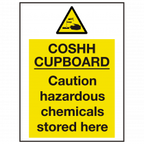 COSHH Cupboard Sign