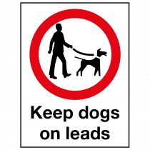 External Keep Dogs on Leads Sign