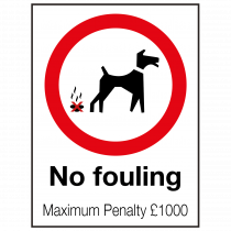 External No Fouling Sign
