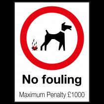 External No Fouling Sign