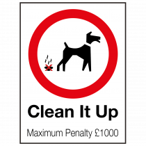 External Clean it Up Sign