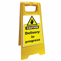 Delivery in Progress Safety Sign Floor Stand
